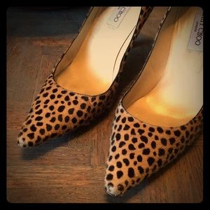 Shoes - 👠Jimmy Choo Leopard Print Heels